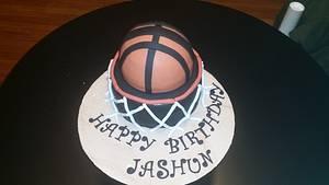 Basketball Hoop - Cake by Tee Tee's Sweets
