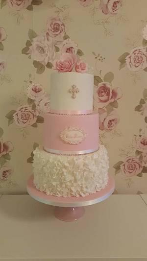 My first ruffle petal rose cake xx - Cake by My Darlin Cakes