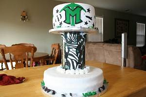 Cheer end of season party cake - Cake by Lisa May