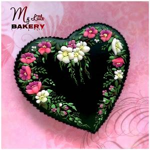 """Magic Night..Heart cookie - Cake by Nadia """"My Little Bakery"""""""