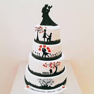 Couple in Love - Cake by Urvi Zaveri
