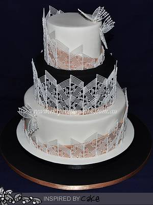 Piped Filigree Shards  - Cake by Inspired by Cake - Vanessa