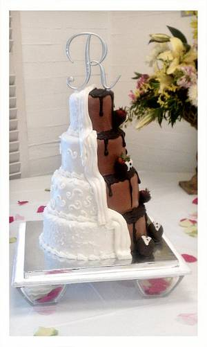 My First 4 tier wedding cake - Cake by Carrie Freeman