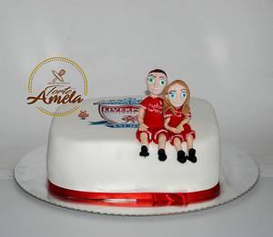 liverpool couple cake - Cake by Torte Amela