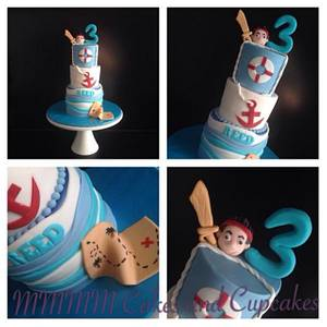 Sailor/Jack Pirate cake - Cake by Mmmm cakes and cupcakes