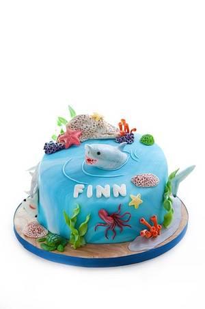 Shark Cake - Cake by Blushcakesco