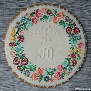 Golden Wedding Gift - Cake by Folkies