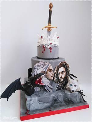 Hand painted movie portraits - Cake by Zuzana Kmecova