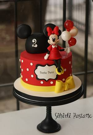 Red Minnie Mouse Cake - Cake by Sihirli Pastane