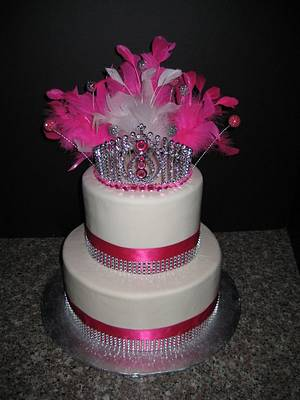 Pink Princess cake - Cake by Norma Angelica Garcia