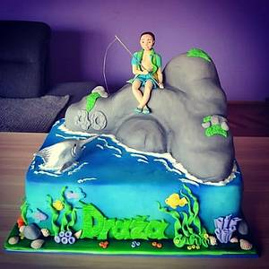 Fisherman  - Cake by Zaklina
