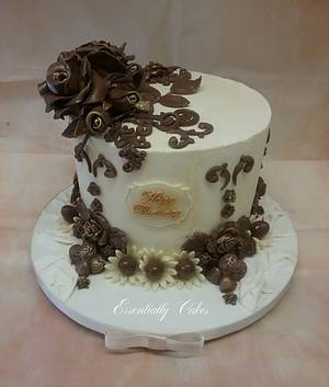 Chocolate Rose - Cake by Essentially Cakes