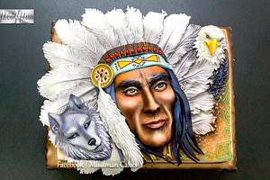 Indian Theme Cake ( Gojko Mitic ) - Cake by MLADMAN