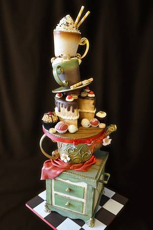 Teapot Standing Cake - Cake by Andres Enciso