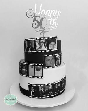 Torta Rollo Cinematográfico - Cake by Dulcepastel.com