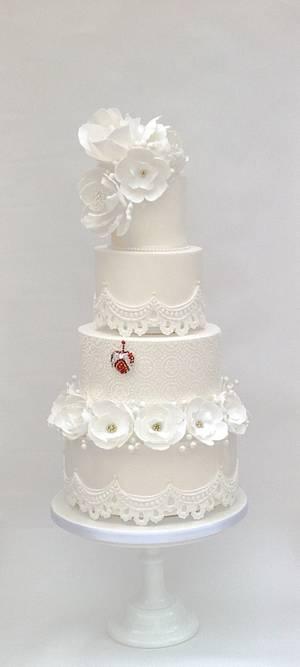 White Winter Love - Cake by Samantha's Cake Design
