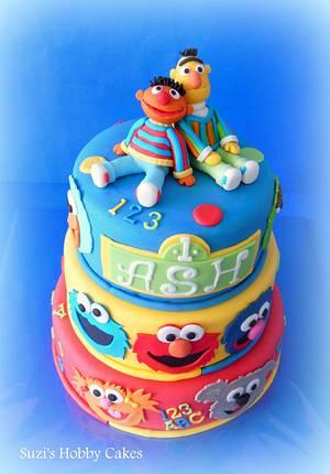 Sesame street 1st b'day cake - Cake by Suzi