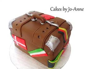 Trip Around the World - Suit Case - Cake by Cakes by Jo-Anne