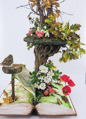 Four Seasons Book  - Cake by Calli Creations