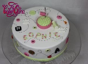 sewing cake  - Cake by cakesbyoana