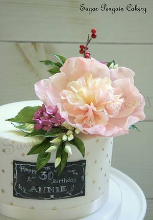 Modern Cake with a Botanical Twist - Cake by Ivone - Sugar Penguin Cakery