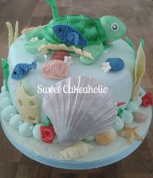 Sea Life Cake - Cake by SweetCakeaholic1