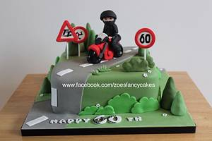 Motor bike birthday cake - Cake by Zoe's Fancy Cakes