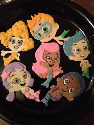 Fondant bubble guppys - Cake by Samantha Corey