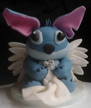 In memory stitch cake topper  - Cake by Jenn Szebeledy  ( Cakeartbyjenn_ )