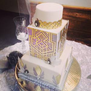 Art Deco Wedding - Cake by Sarah Ono Jones