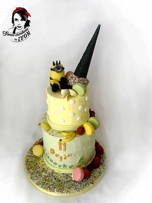 Cream Cake - Minion/Ice Cream Cone - Cake by Ivon