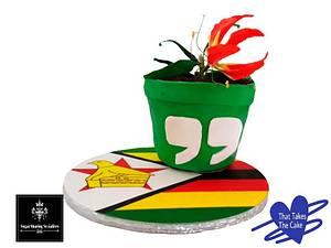 Flower pot cake - SSS Collab - Cake by Tasneem Latif (That Takes the Cake)