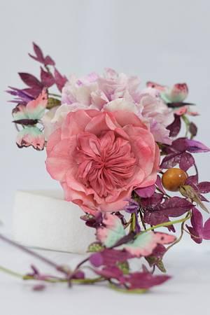 bouquet cascade - Cake by divya saraf