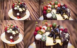 Bullerier Roxy in the garden :-) - Cake by Lucie