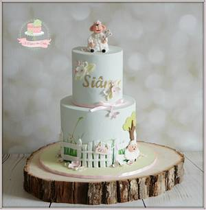 Garden sheep - Cake by Jo Finlayson (Jo Takes the Cake)