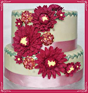 Elegant Daisies - Cake by Princess of Persia