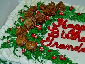 Pine cone, Acorn, greenery buttercream cake  - Cake by Nancys Fancys Cakes & Catering (Nancy Goolsby)