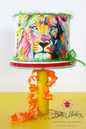 """""""Through the eyes of a Lion"""" - Cake by Betty's Bakery (molecular sensations)"""