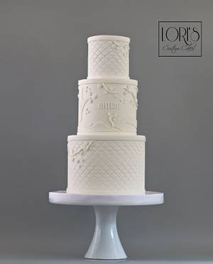 GOT wedding cake just for the bride  - Cake by Lori Mahoney (Lori's Custom Cakes)