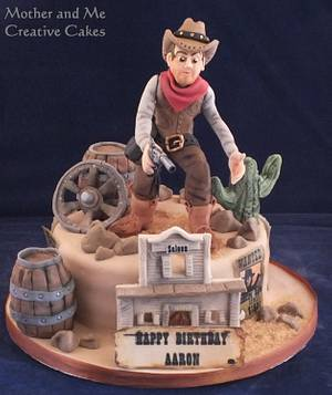Gunslinger! - Cake by Mother and Me Creative Cakes
