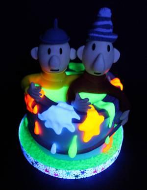 Blacklight cake - Cake by Slindt