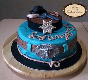a western cake for Lorenzo - Cake by Daniela Morganti (Lela's Cake)