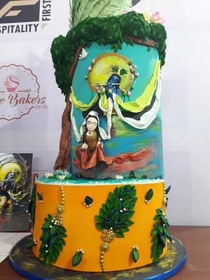 True Love of Radha Krishna...  - Cake by Sheetal chourasia