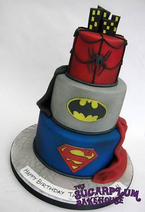 3 Tier DC Comics Superhero Cake - Cake by Sam Harrison