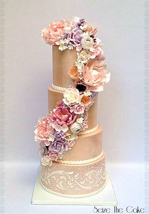 Wedding cake in satin luster  - Cake by Seize The Cake