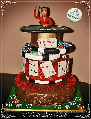 Texas Hold'Em Cake  - Cake by Wesh ArtsLab