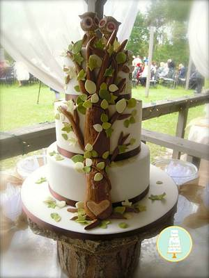 Rustic Tree Wedding Cake - Cake by Sugar & Spice Cake Shop