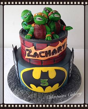 Ninja turtle & batman birthday cake - Cake by Carter Valentino Ltd