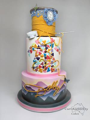Happy Birthday Dolly Parton - Cake by CuriAUSSIEty  Cakes