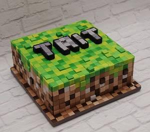 Minecraft....squares and squares - Cake by Trickycakes